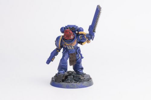 WIP: Ultramarines Space Marine Heroes Brother Sergeant Sevastus