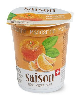 Watercolor Mandarin On Packaging of Saison Yogurt