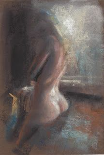 """Delicate light"" female nude by the window"
