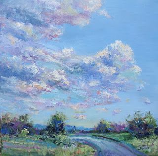 Comfort Clouds, New Contemporary Landscape Painting by Sheri Jones