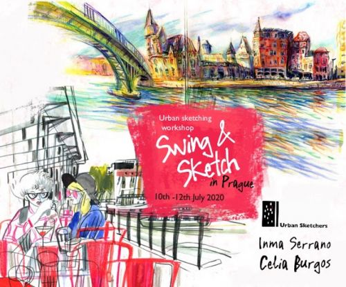 USK Workshop: Swing & Sketch in Prague - with Inma Serrano and Celia Burgos