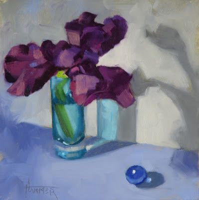 "'The Iris and the Marble"" 6"" x 6"" Oil"