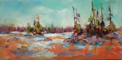 "Grand Mesa, Contemporary Impressionist Landscape Painting,Colorado Landscape, Fine Art Oil Painting,""Agemates"" by Colorado Contemporary Fine Artist Jody Ahrens"