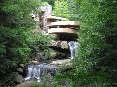 Frank Lloyd Wright's Fallingwater Damaged from Flooding