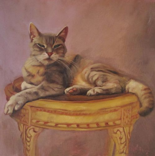Brutus, a new cat painting