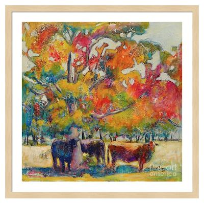 """Colorful Contemporary Landscape Fine Art Print """"When Two Or More Gather"""" By Passionate Purposeful Painter Holly Hunter Berry"""