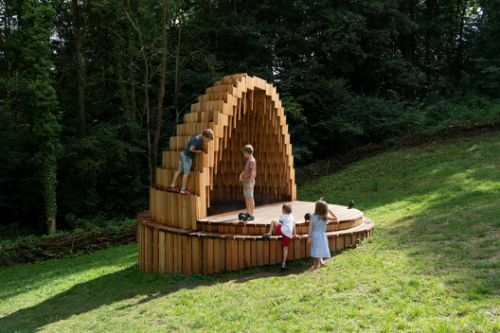 Rain Amplifier Installation / Matthijs la Roi Architects