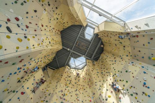 Chimneys, Overhangs and Anchors: The Architecture of Climbing Gyms