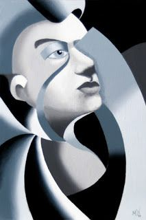 Mark Webster - Abstract Grayscale Unfinished Sculpture Oil Painting