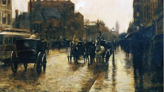 Frederick Childe Hassam, Columbus Avenue, Rainy Day