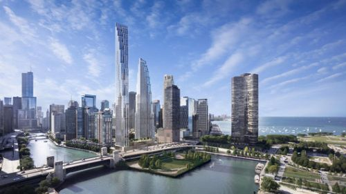 First Images Released of SOM's Proposed Skyscrapers on Former Chicago Spire Site