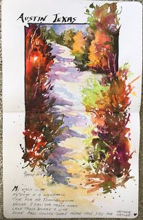 Journal Entry, Texas..Watercolor..Texas Artist..Rae Andrews