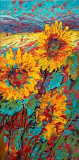 New Cheerful Sunflower Painting by Niki Gulley