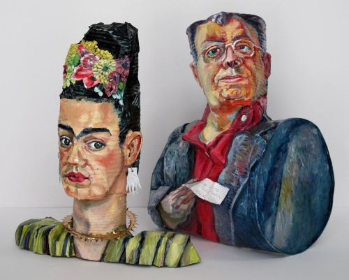 Tin Cans Transformed into Famous Art Historical Self-Portraits by Allan Rubin
