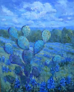 The Blues Have It, New Contemporary Landscape Painting by Sheri Jones