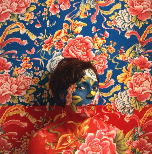 Camouflaged Self-Portraits Conceal Photographer Cecilia Paredes Against Bright Floral Patterns