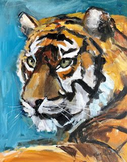 Tiger for the Orange and Blue