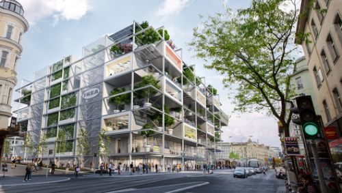 Innovative, Car Free and Green: Images of the New IKEA Austria Store Revealed