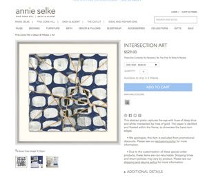Licensed Prints on Annie Selke
