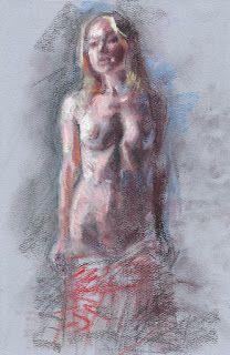 """Undressing female figure"" frontal nude"