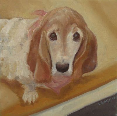 Olivia - 8 x 8 inches - oil on canvas