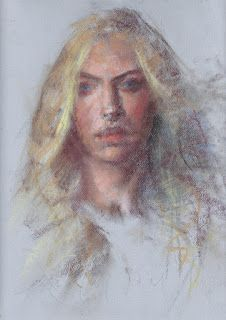 """""""Sophie"""" pastel sketch from life"""