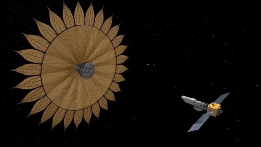 NASA's Starshade is a Flag for Blocking Starlight in Space Photo Shoots