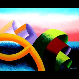 Mark Webster - The Modern Landscape 4.0 Abstract Geometric Oil Painting