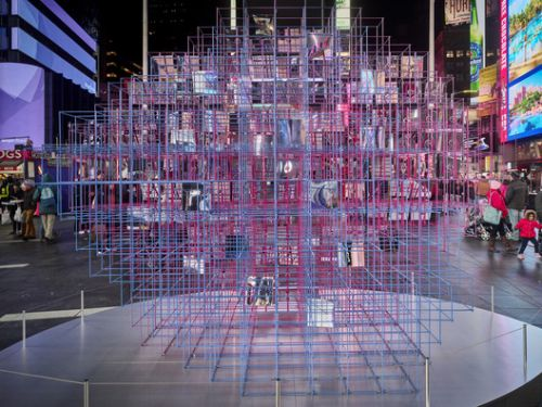 Heart Squared Installation, Designed by MODU and Eric Forman, Opens in Times Square
