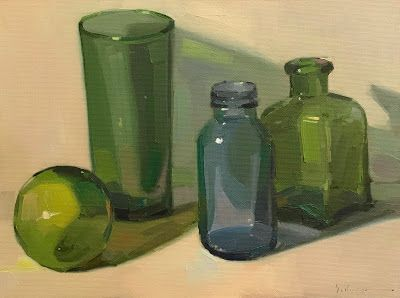 Green and Blue Glass