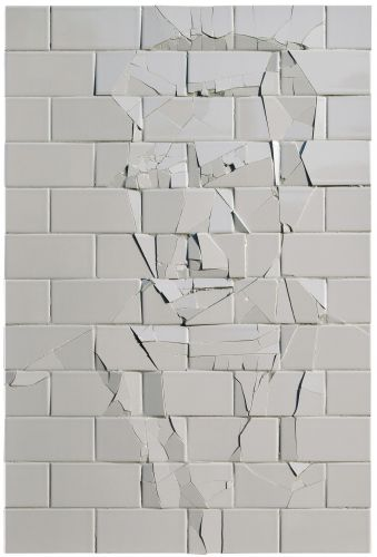 Ruptured Subway Tiles Reveal Emerging Figures by Graziano Locatelli