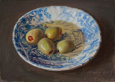 Olives original oil painting daily painting a painting a day