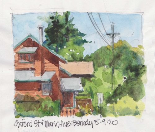 Report from Berkeley: Urban sketching in the age of COVID-19
