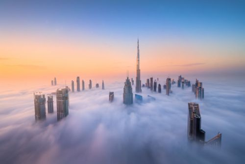 Photographer Captures Skyscrapers in Dubai Rising Above the Clouds