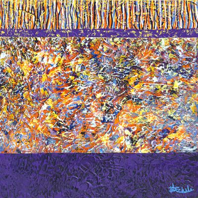 Large abstract, contemporary, modern art painting