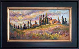 "New ""Cypress Glory"" Tuscany Palette Knife Oil Painting by Niki Gulley"