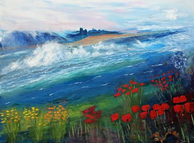 "Original Contemporary Seascape Painting ""Whispering Home"" by International Contemporary Seascape Artist Arrachme"