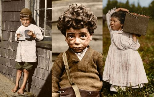 Colorized Photos of American Child Laborers