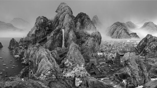 Artist Yang Yongliang Imagines the Bleak Effects of Industrialization in Dense Photographic Collages
