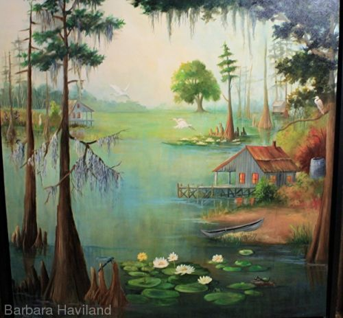 Adams Bayou,oils canvas,framed large,Barbara Haviland