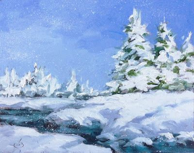 SNOW, WINTER LANDSCAPE by TOM BROWN