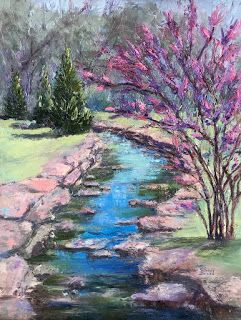 Spring Buds, New Contemporary Landscape Painting by Sheri Jones