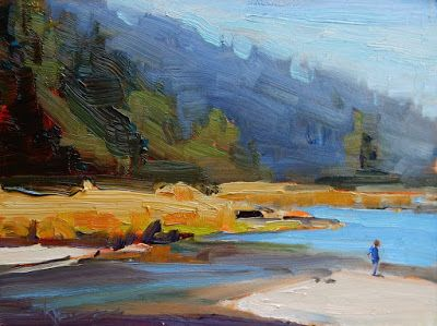 """Salt Creek Explorer"" Paint the Peninsula 2018, plein air landscape by Robin Weiss"