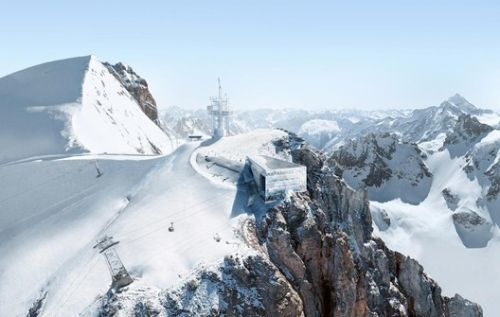 "Herzog & de Meuron's Mountain Outpost Brings ""Architectural Ambition"" to the Swiss Alps"