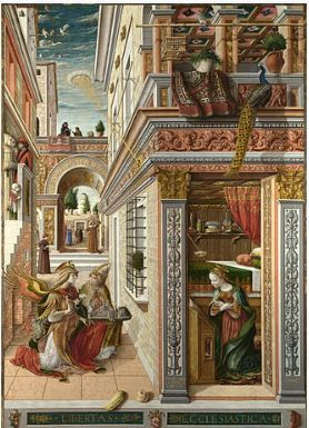 Carlo Crivelli. Unknown birthday but an artist whose works are too beautiful to ignore