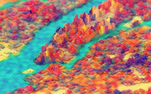 New York City Rendered in LEGO by J.R. Schmidt