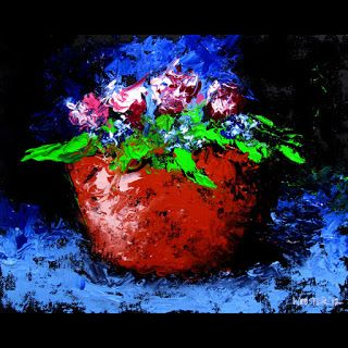 Mark Webster - Palette Knife Flowers Still Life Oil Painting
