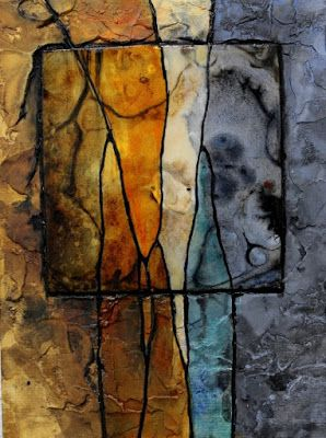 "Contemporary Abstract Painting, ""Gemstone 30"" by Colorado Mixed Media Artist Carol Nelson"