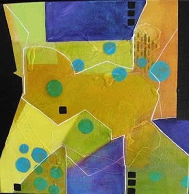 """Abstract Art, Expressionism, Contemporary Painting """"Funky Too"""" by Contemporary Artist Maggie Demarco"""
