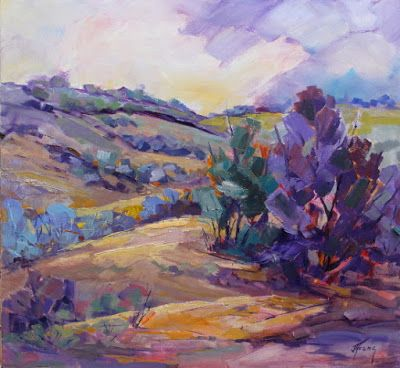 "Impressionist Landscape, Mountain Landscape, Trees, Fine Art Oil Painting ""Summer Melody"" by Colorado Contemporary Fine Artist Jody Ahrens"